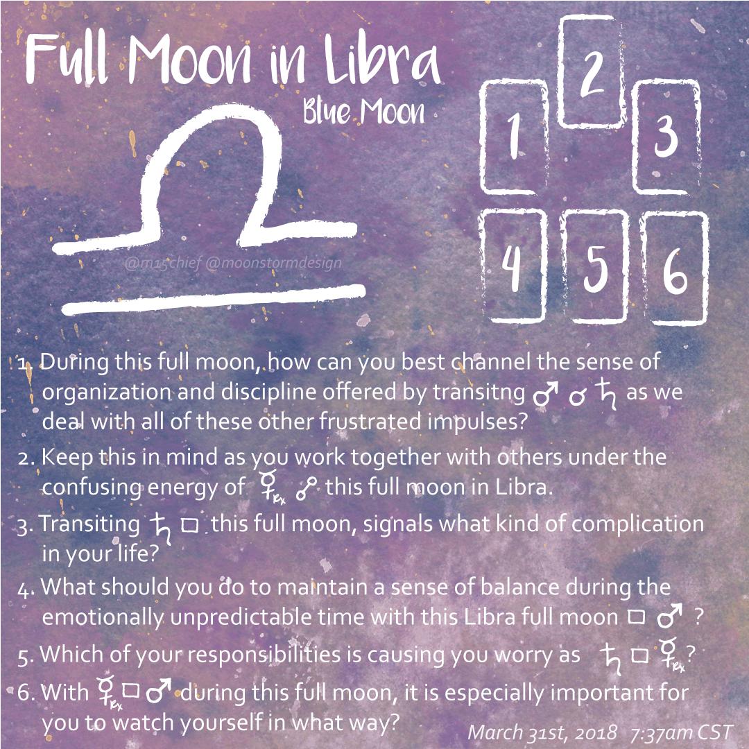 full moon in libra tarot spread.