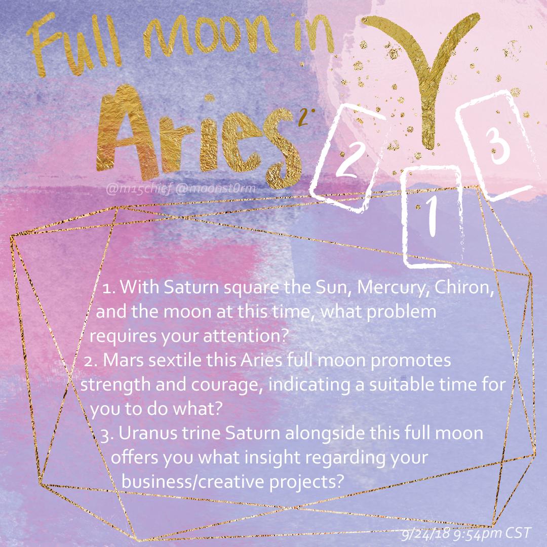 Full moon in aries tarot spread.
