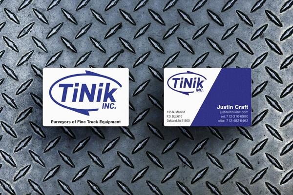 TiNik Business card design