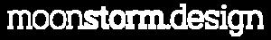 Moonstorm Design logo white