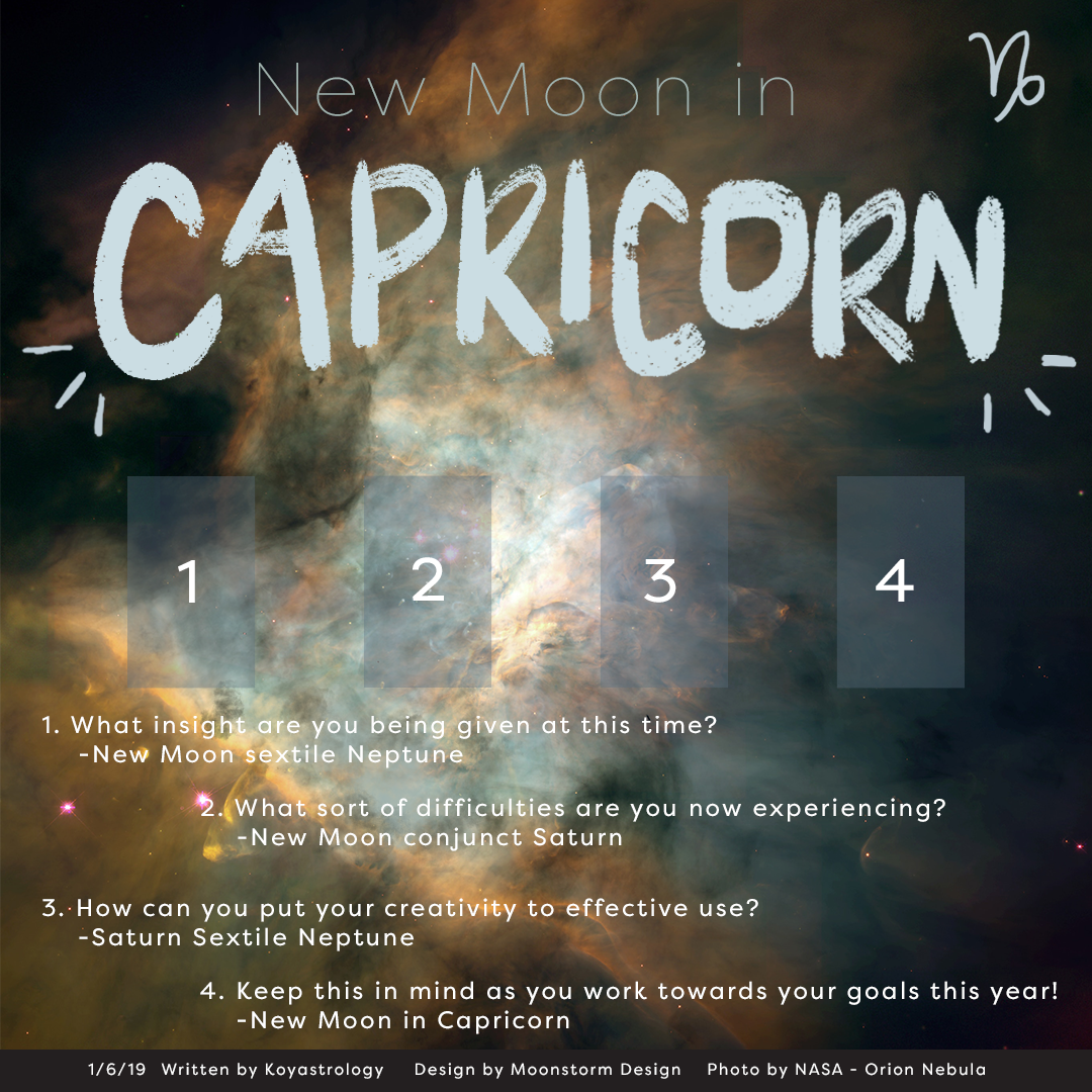 new moon in Capricorn tarot spread