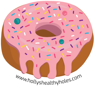 Illustrated pink frosted donut