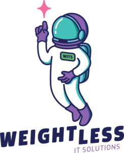 Weightless IT Solutions Franky the Astronaut Logo